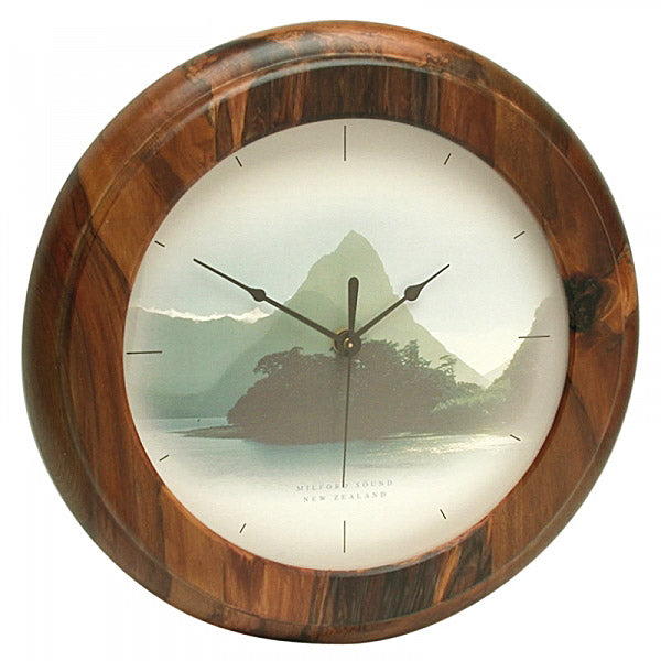 CLOCK, RIMU - MILFORD SOUND - Kiwi Collections