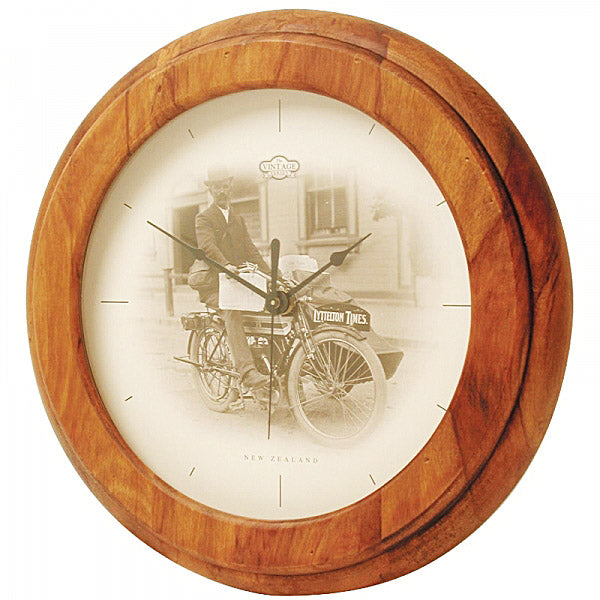 CLOCK, RIMU - MOTORCYCLE VINTAGE - Kiwi Collections