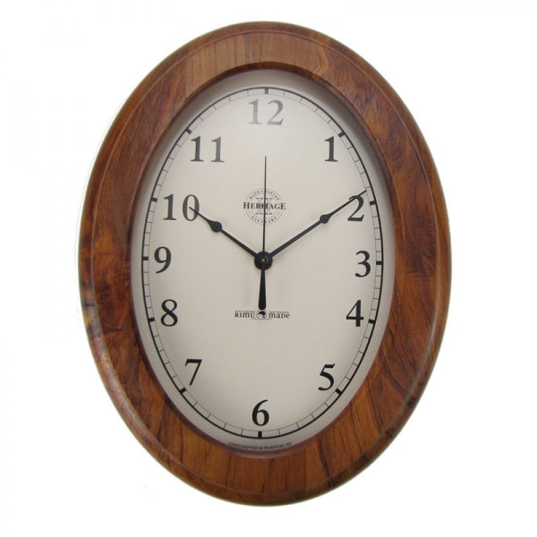 CLOCK, RIMU - OVAL, ARABIC - Kiwi Collections