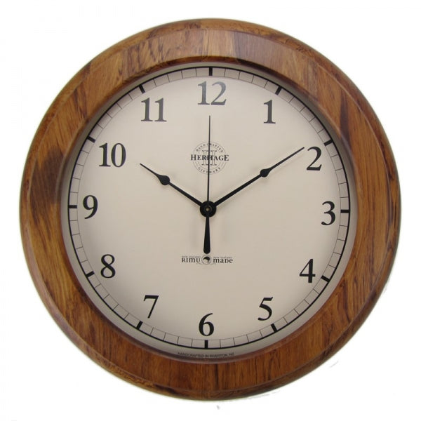CLOCK, RIMU - ROUND - ARABIC - Kiwi Collections