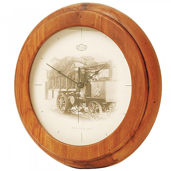 CLOCK, RIMU - TRUCK VINTAGE - Kiwi Collections