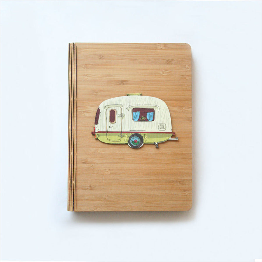 Bamboo Journal: Printed Caravan