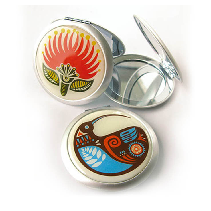 Pocket mirror - Pohutukawa - Kiwi Collections