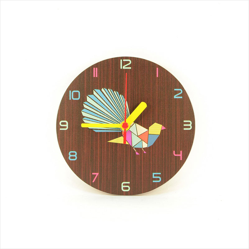 Clock : Fantail Geometric Dark Oak - Clocks