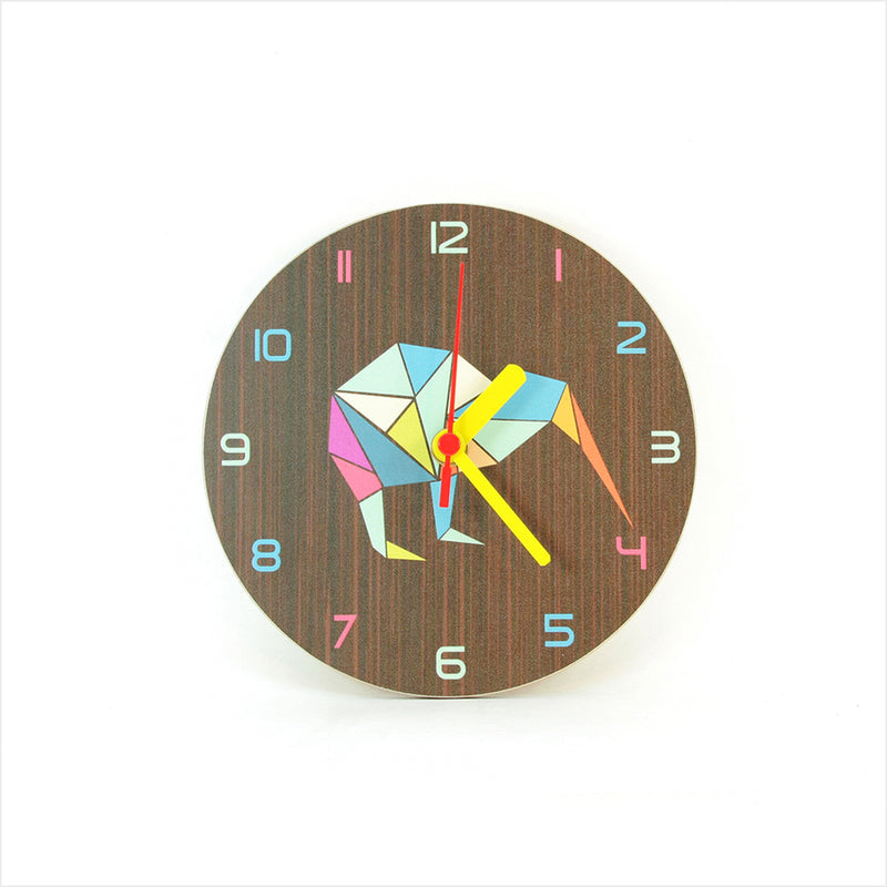 Clock: Kiwi Geometric Dark Oak - Clocks