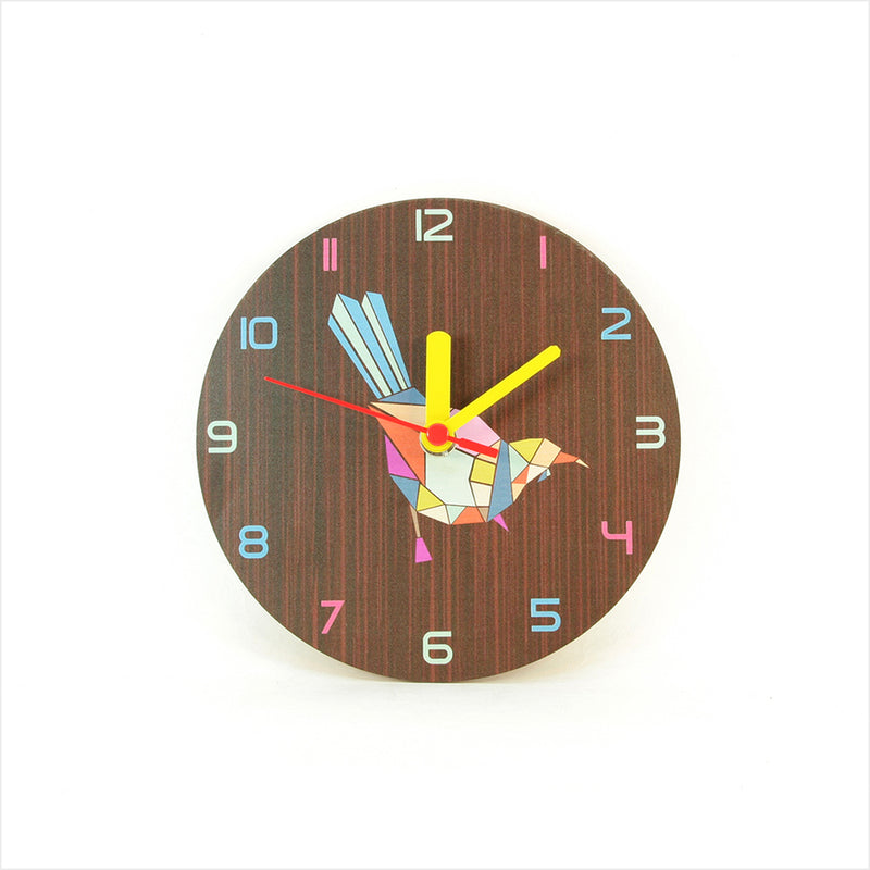 Clock: Tui Geometric Dark Oak - Clocks
