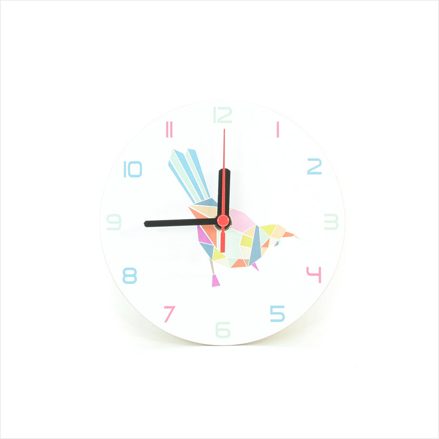 Clock: Tui Geometric White - Clock