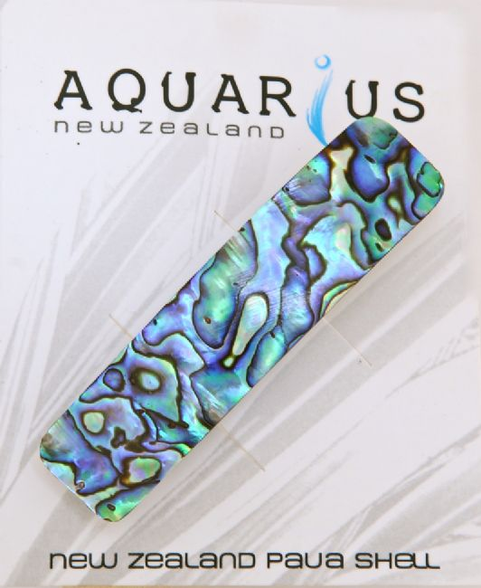 Rectangle Paua Hairclip - Kiwi Collections