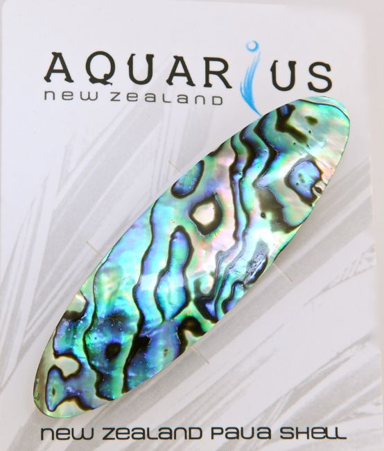 Paua Oval Hairclip - Kiwi Collections