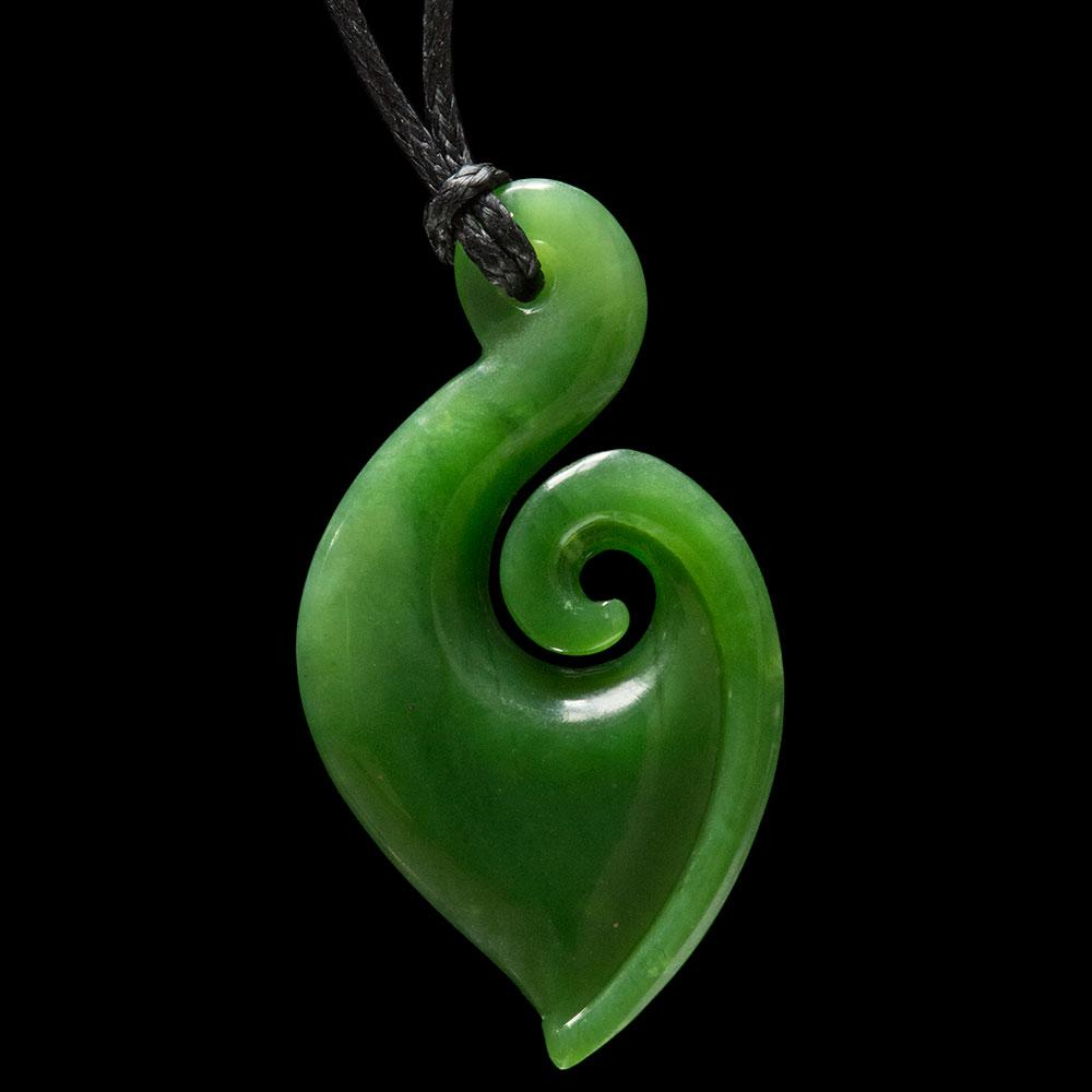Large Jade Matau by Ross Crump - Kiwi Collections