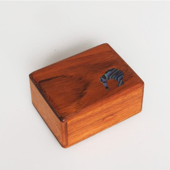 Paua Kiwi Ornament Wood Box - Kiwi Collections