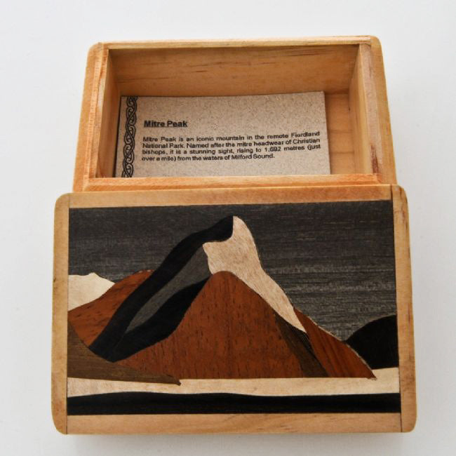 Mitre Peak Wooden Box - Kiwi Collections