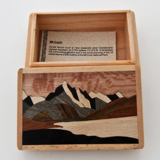 Mount Cook Wooden Box - Kiwi Collections