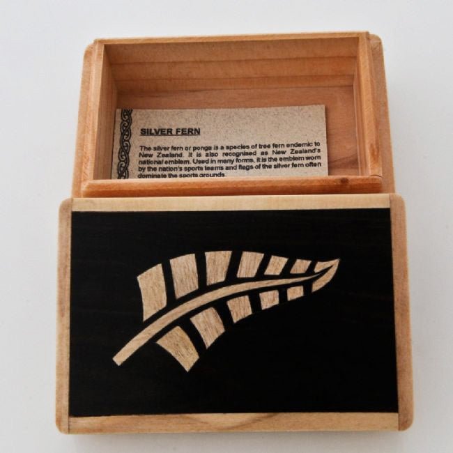 Fern Wooden Box - Kiwi Collections