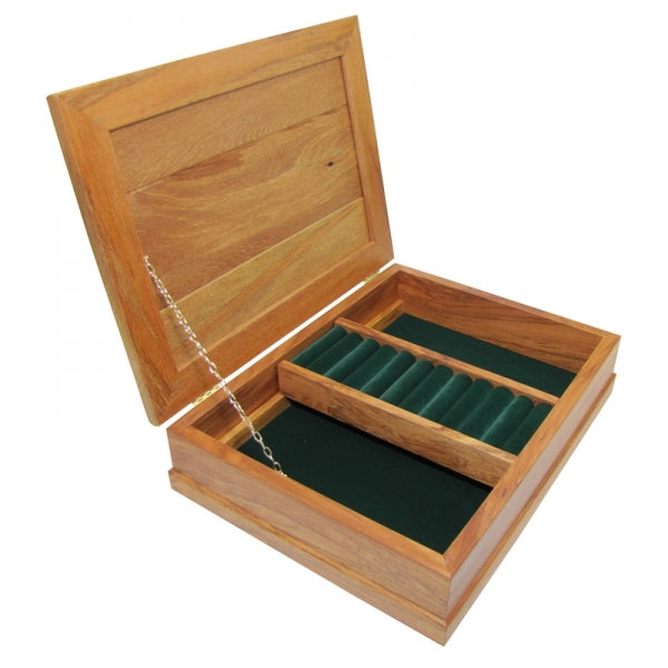 JEWELLERY BOX RIMU- DELUXE, FOREST GREEN - Kiwi Collections