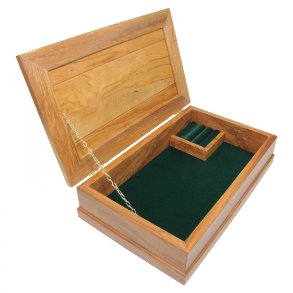 JEWELLERY BOX, RIMU -LARGE, FOREST GREEN - Kiwi Collections