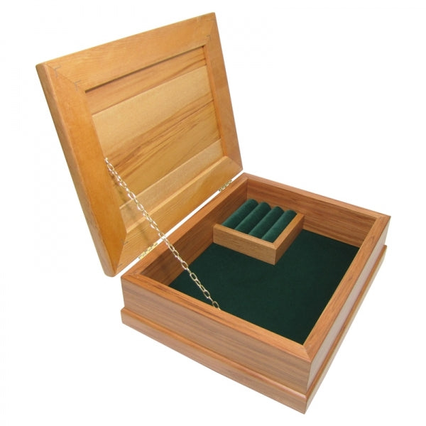JEWELLERY BOX, RIMU - STD, FOREST GREEN - Kiwi Collections