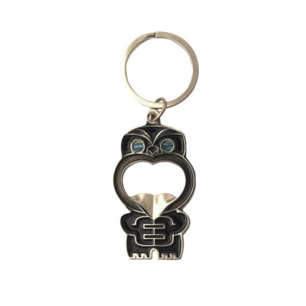 KEYRING - BOTTLE OPENER, POUPOU BLACK - Kiwi Collections
