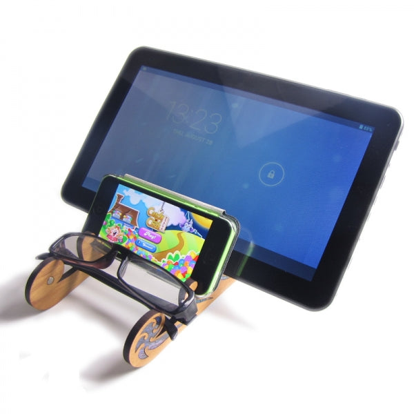 KORU TABLET STAND - PAUA & RIMU - Kiwi Collections