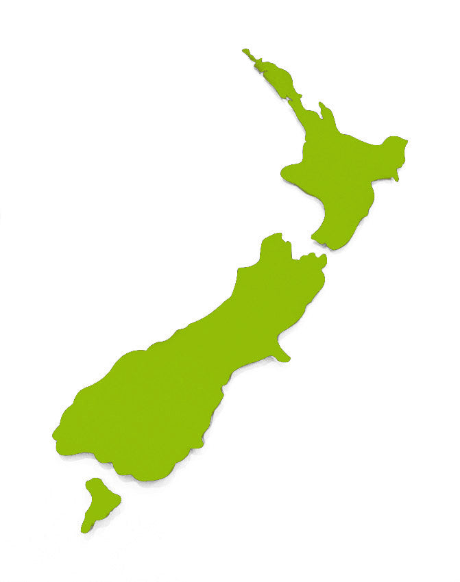 ACM Art NZ Map-Plain Small - Kiwi Collections