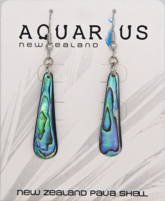 Paua Teardrop Hook Er - Kiwi Collections