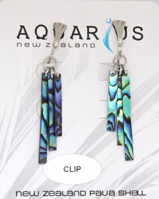 Paua Wind Chime Dangling Clip Er - Kiwi Collections