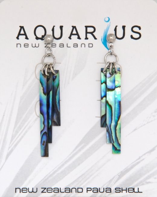 Paua Wind Chime Ball Post Earring - Kiwi Collections