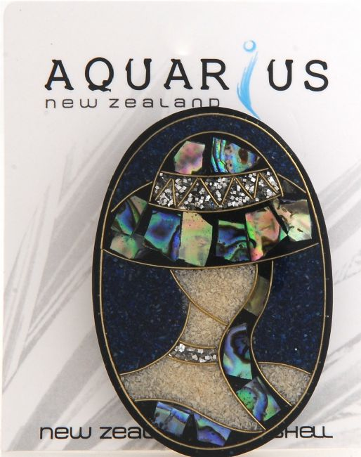 Paua Hat Brooch - Vertical Brooch - Kiwi Collections