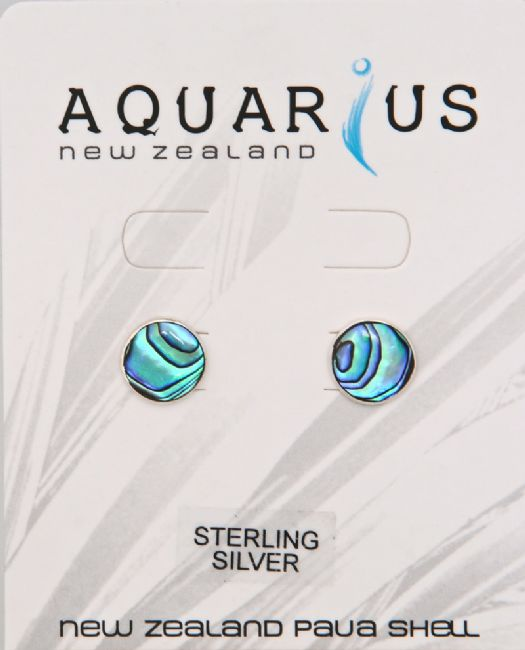 Paua/St Silver Round 10mm Er - Kiwi Collections