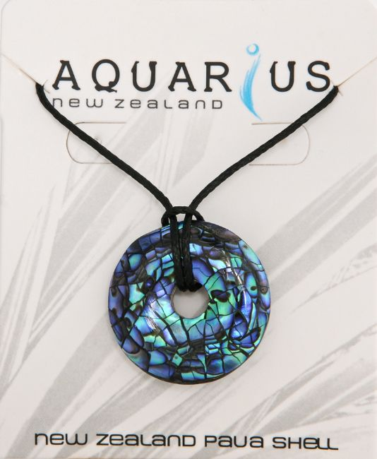 Paua Cracking Donut Small Pendant - Kiwi Collections