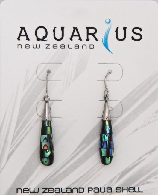 Small Paua Blocking Teardrop Er - Kiwi Collections
