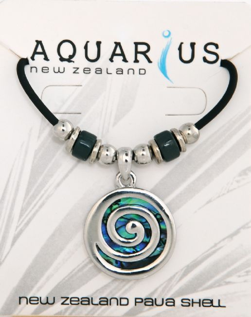 Paua Metal Lg Spiral Choker - Kiwi Collections