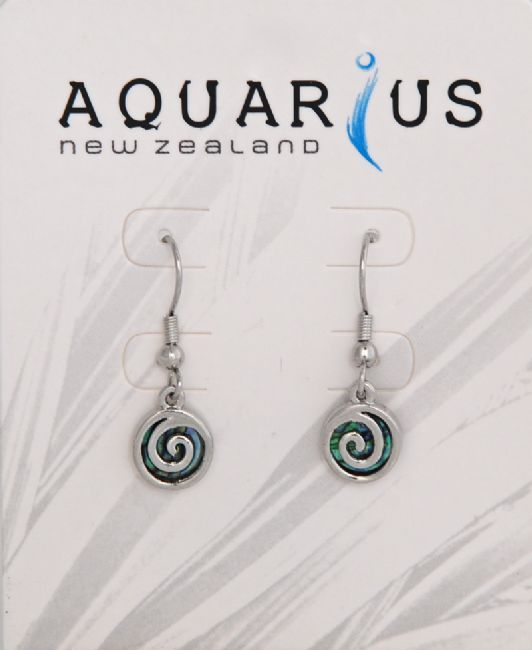 Small Paua Metal Spiral Hook Er - Kiwi Collections