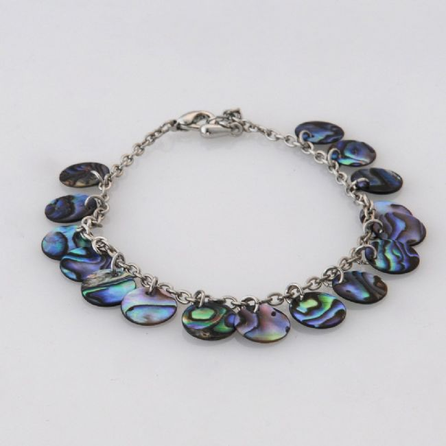 Paua Rounds Bracelet - Kiwi Collections