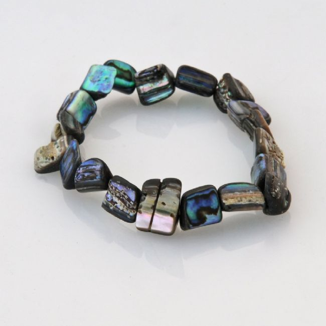 Paua Chip Stretch Bracelet - Kiwi Collections