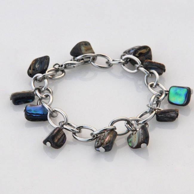 Paua Chunk Chain Bracelet - Kiwi Collections