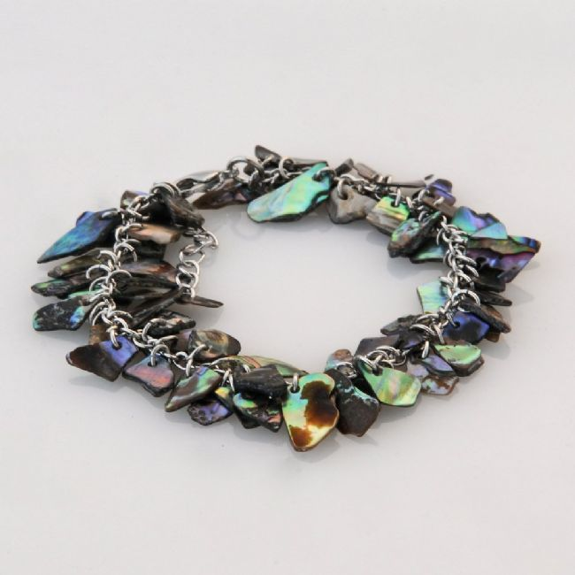 Small Paua Wedge Chip Bracelet - Kiwi Collections