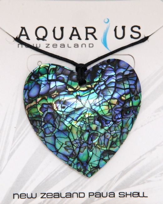 Paua Cracking Heart Choker - Large - Kiwi Collections