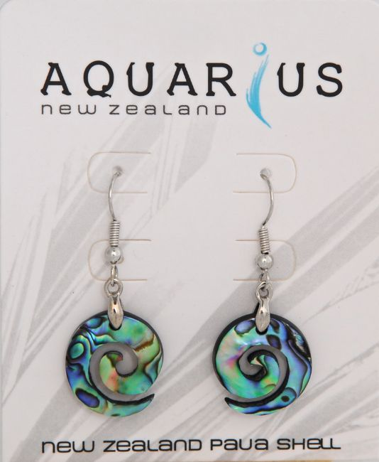 Paua Koru Resin Hook Er - Kiwi Collections