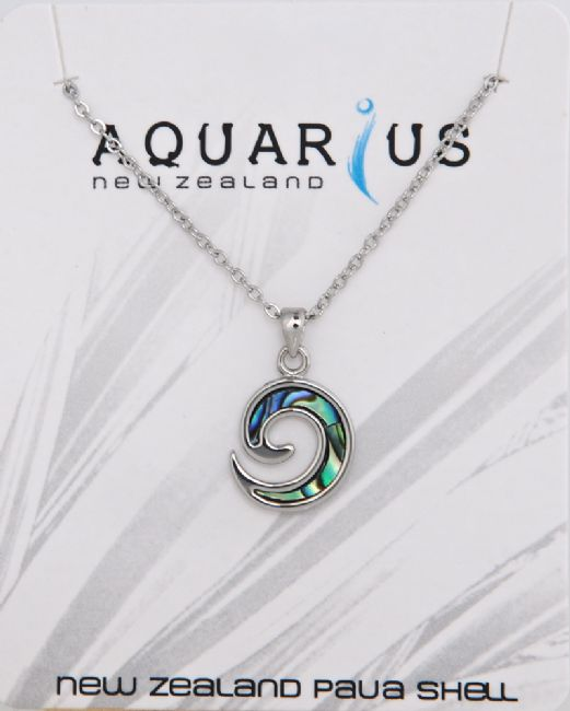 Paua Inlay Koru Pendant - Kiwi Collections