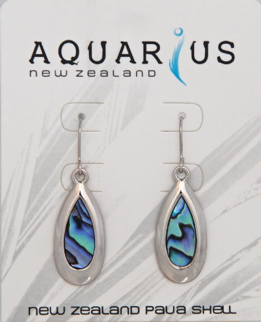 Paua Chrome Teardrop Er - Kiwi Collections