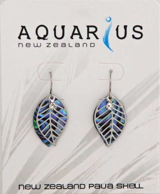Paua Leaf Filigree Er - Kiwi Collections
