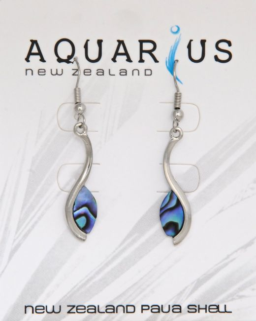Paua Flowing Petal Earring - Kiwi Collections