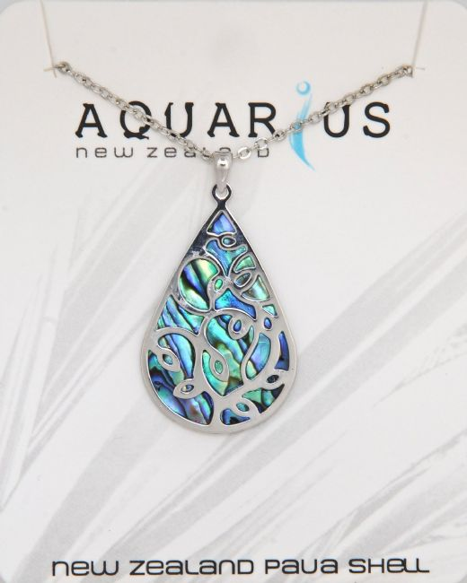 Paua Teardrop With Overlay NL - Kiwi Collections
