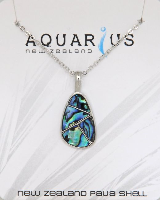 Paua Teardrop Pendant - Kiwi Collections