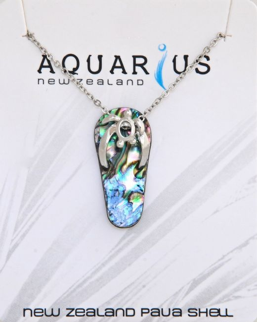 Paua Jandal Pendant - Kiwi Collections