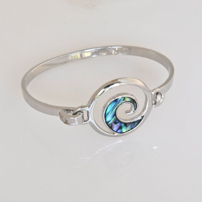 Paua Koru Bangle - Kiwi Collections