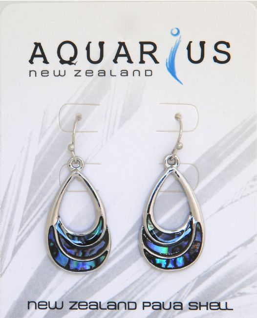 Paua Teardrop Cut Out Earring - Kiwi Collections