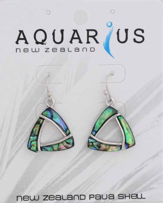 Paua Triangle earring - Kiwi Collections