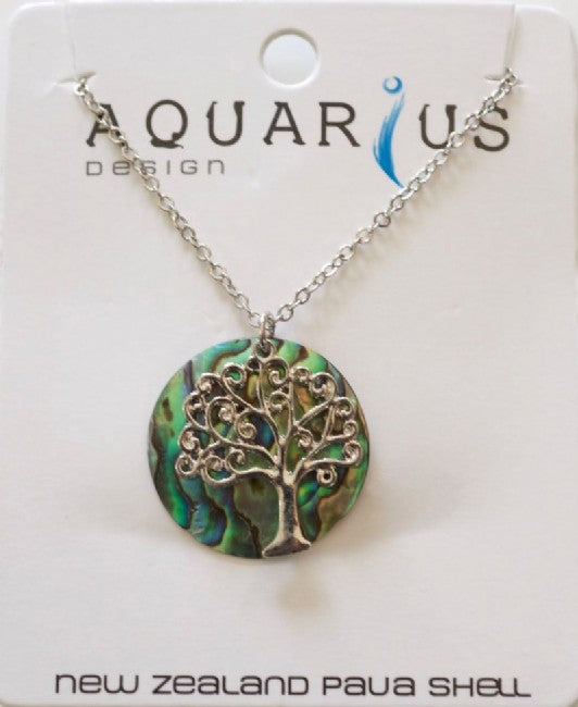 Paua Tree of Life Pendant NL - Kiwi Collections